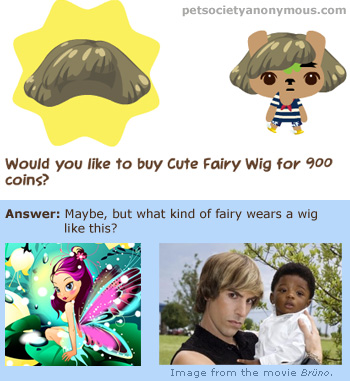 Fairy Wig in Pet Society