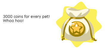 3000 coins in Pet Society