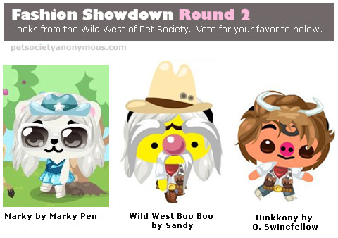 wild west fashion showdown in Pet society