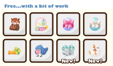 free gifts in pet society