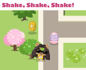 shake trees in pet society for eggs