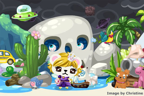 skull cave in pet society