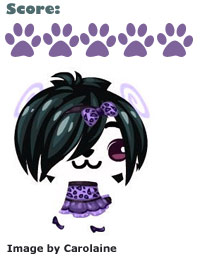 asymmetrical wig in pet society