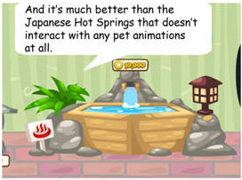 japanese hot springs in pet society