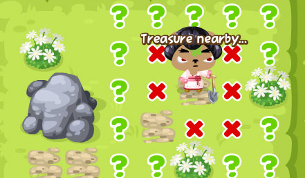 digging for treasure in pet society