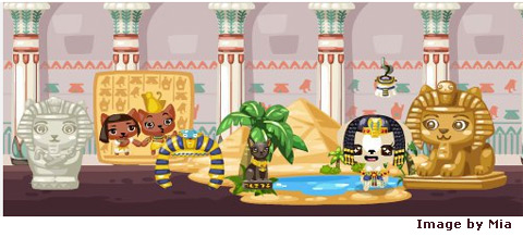 egyptian items in pet society