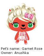 pet society pet Garnet Rose