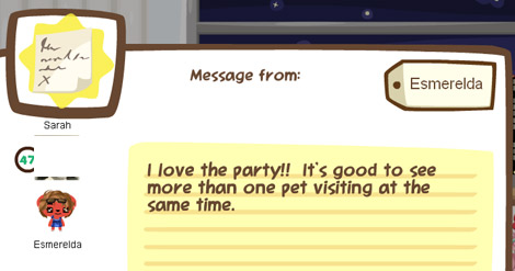 pet society party reactions