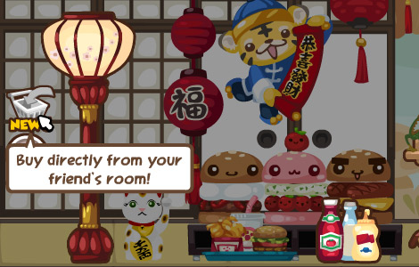 buy directly from friend's room in pet society