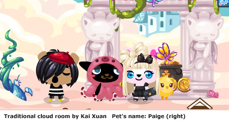 Cloud room in pet society