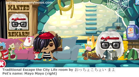 Escape from the City room in Pet society