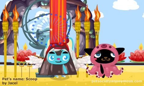 burning man in pet society