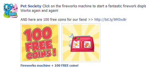 fireworks machine in pet society