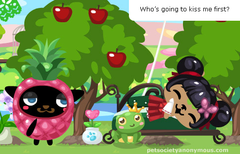 hideeni and frog in Pet Society
