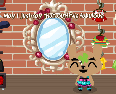 Enchanted Mirror in Pet Society.