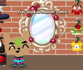 enchanted mirror in pet society