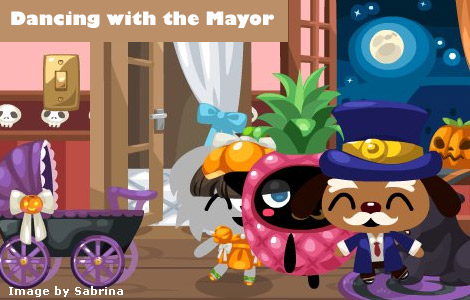 dancing mayor in pet society