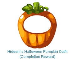 hideeni pumpkin completion reward