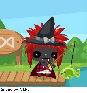 Halloween slimy fish in pet society
