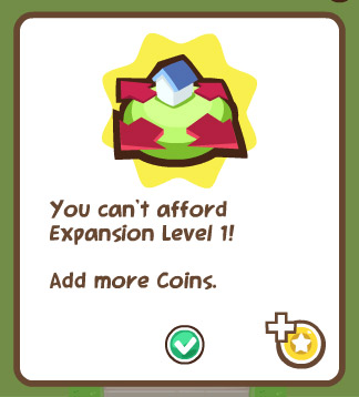 cannot expand yard in pet society
