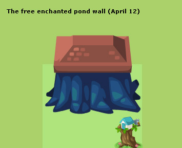 enchanted pond wall in pet society