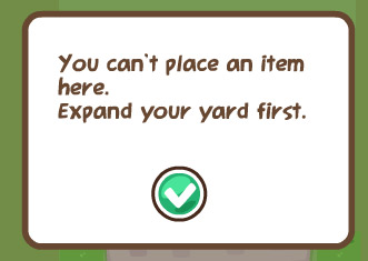 expand yard in pet society