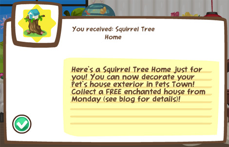 free squirrel home in pet society